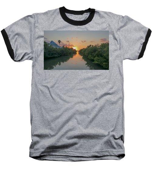 Sunset On Sarasota Bay Baseball T-Shirt