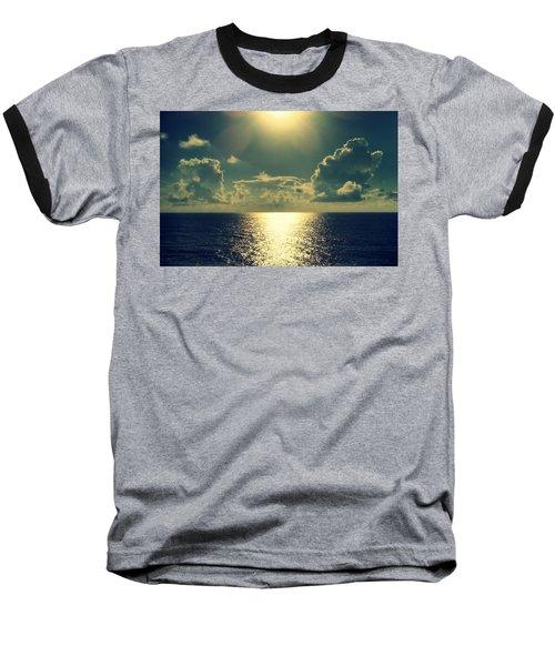 Sunset On The Atlantic Ocean Baseball T-Shirt by Paulo Guimaraes
