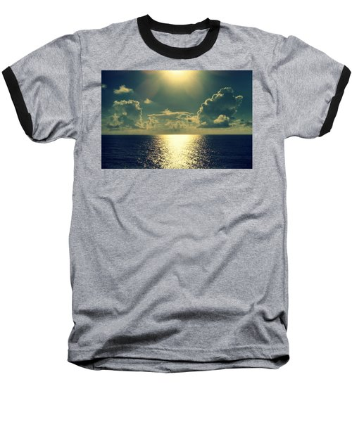 Sunset On The Atlantic Ocean Baseball T-Shirt