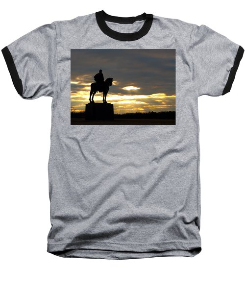 Sunset On The Battlefield Baseball T-Shirt