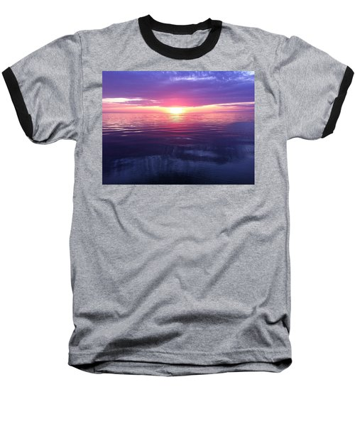 Baseball T-Shirt featuring the photograph Sunset On The Bay by Tiffany Erdman