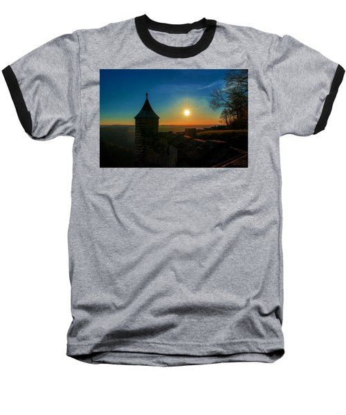 Sunset On The Fortress Koenigstein Baseball T-Shirt