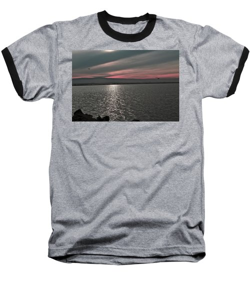 Sunset On The Marsh Baseball T-Shirt
