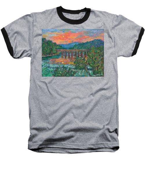 Sunset On The New River Baseball T-Shirt