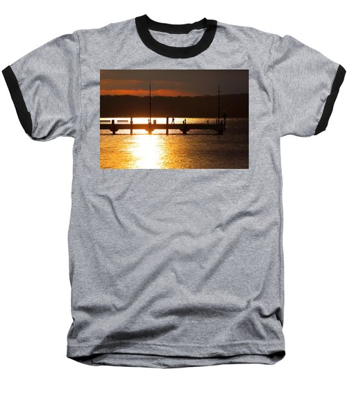 Sunset On The Pier Baseball T-Shirt