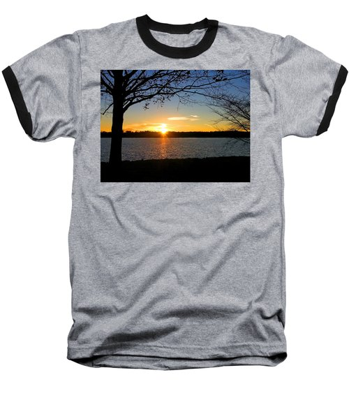 Sunset On The Potomac Baseball T-Shirt