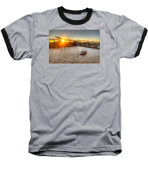 Sunset On The Thames Baseball T-Shirt