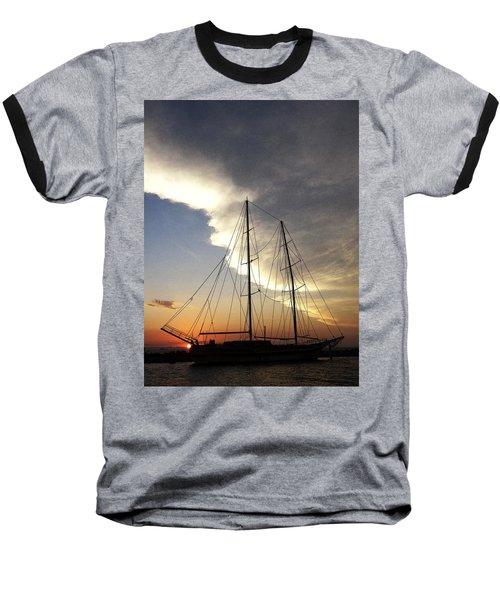 Sunset On The Turkish Gulet Baseball T-Shirt