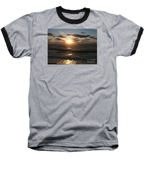 Sunset On Venice Beach  Baseball T-Shirt by Christiane Schulze Art And Photography