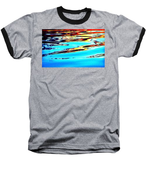Sunset On Water Baseball T-Shirt