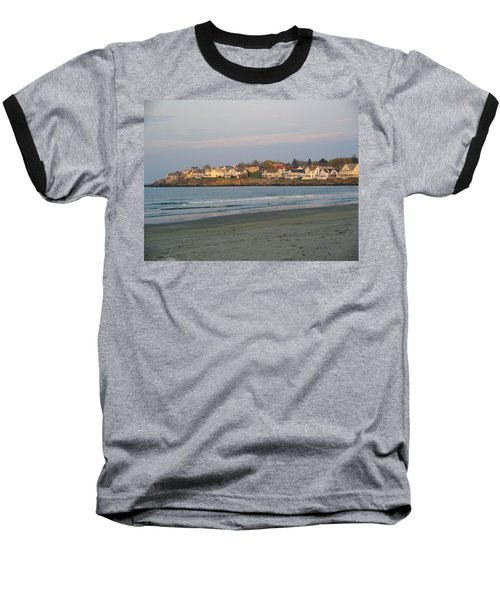 Sunset On York Beach Baseball T-Shirt