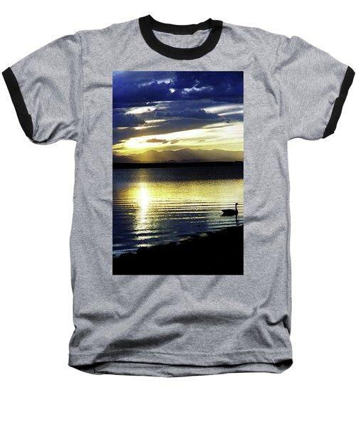 Sunset Over Aurora Baseball T-Shirt