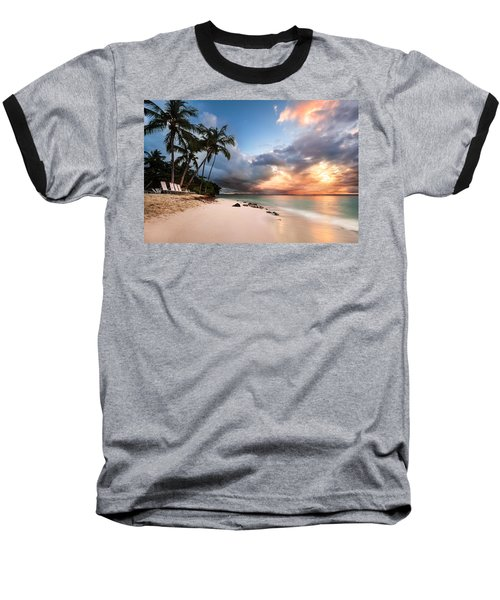Baseball T-Shirt featuring the photograph Sunset Over Bacardi Island by Mihai Andritoiu