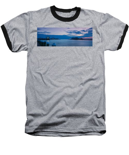 Sunset Over Chincoteague Inlet Baseball T-Shirt