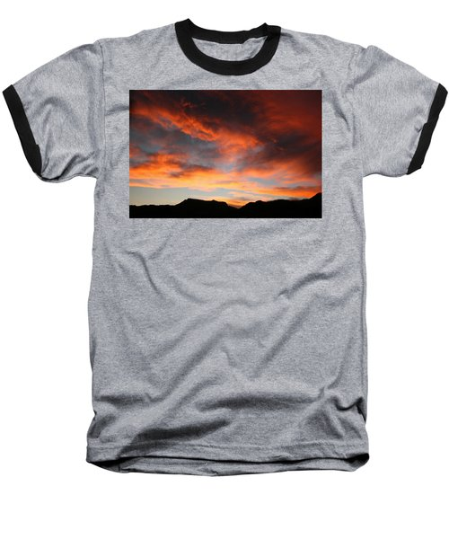 Sunset Over Estes Park Baseball T-Shirt