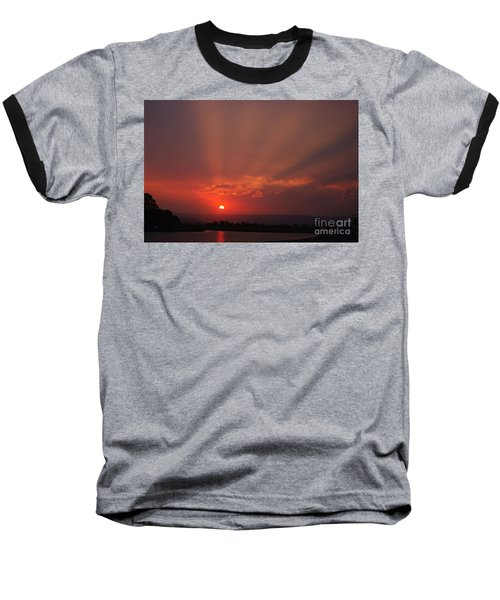 Sunset Over Hope Island 2 Baseball T-Shirt