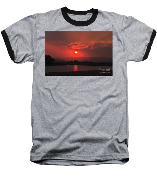 Sunset Over Hope Island Baseball T-Shirt
