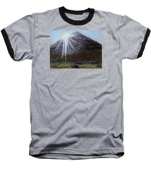 Sunset Over Khufu Baseball T-Shirt by Raymond Perez