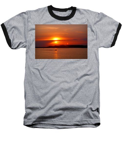Sunset Over Lake Ozark Baseball T-Shirt