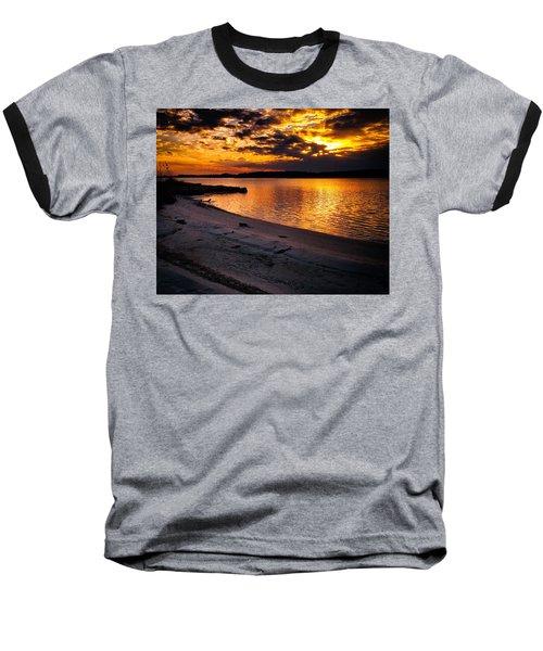 Sunset Over Little Assawoman Bay Baseball T-Shirt