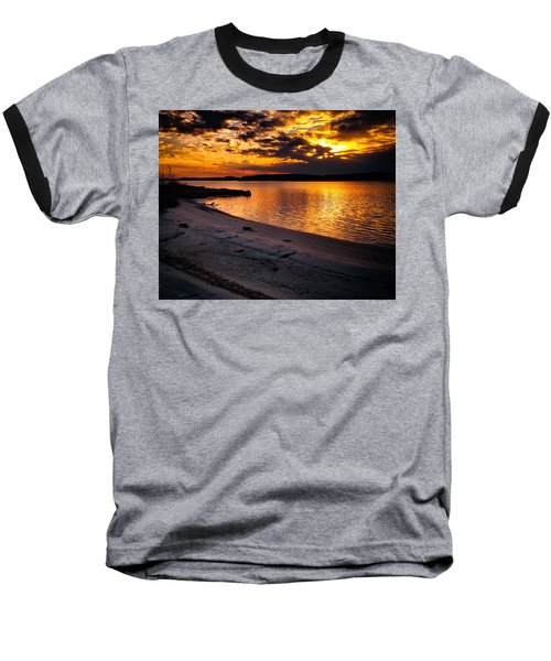 Sunset Over Little Assawoman Bay Baseball T-Shirt