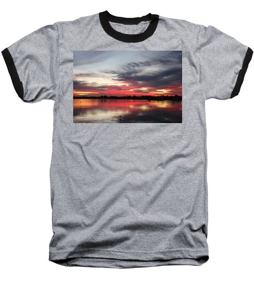 Sunset Over Mission Bay  Baseball T-Shirt