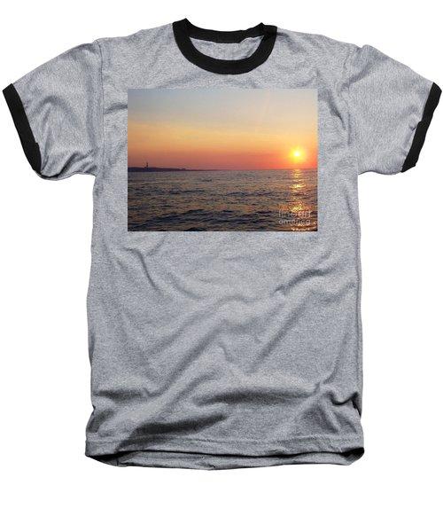 Sunset Over Montauk Baseball T-Shirt