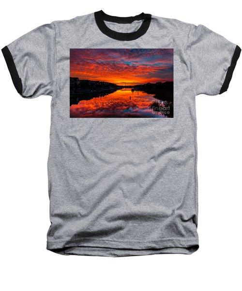 Sunset Over Morgan Creek - Wild Dunes Resort Baseball T-Shirt