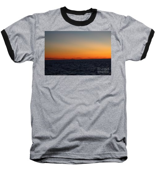 Baseball T-Shirt featuring the photograph Sunset Over Point Lookout by John Telfer
