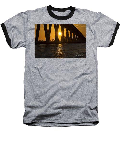 Sunset Over Sanibel Island Photo Baseball T-Shirt