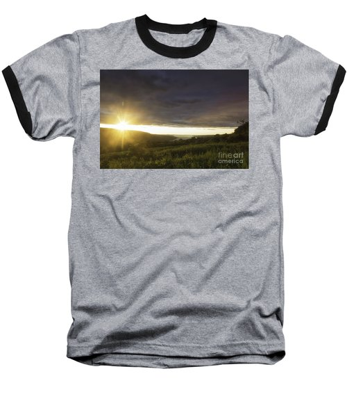Sunset Over Skaneateles Baseball T-Shirt