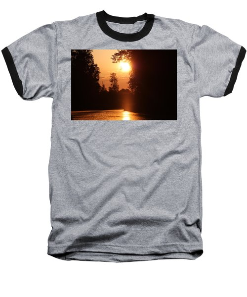 Sunset Over The Canals Baseball T-Shirt by Rogerio Mariani