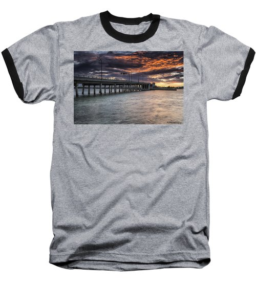 Sunset Over The Drawbridge Baseball T-Shirt