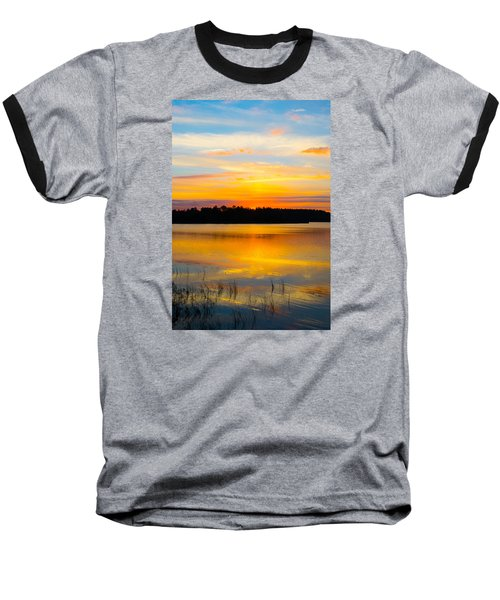 Sunset Over The Lake Baseball T-Shirt