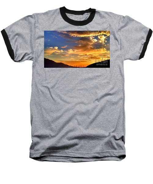 Baseball T-Shirt featuring the photograph Sunset Over The Pass by Chris Tarpening