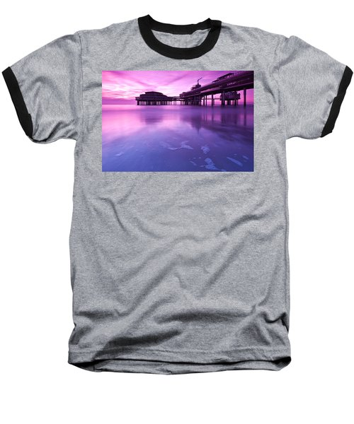 Baseball T-Shirt featuring the photograph Sunset Over The Pier by Mihai Andritoiu