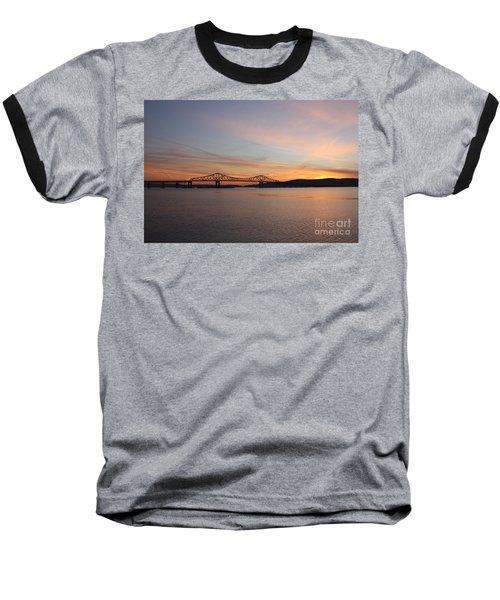 Sunset Over The Tappan Zee Bridge Baseball T-Shirt