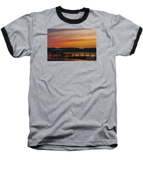 Baseball T-Shirt featuring the photograph Sunset Over The Wando River by Dale Powell