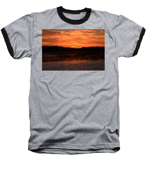 Sunset Over Tiny Marsh Baseball T-Shirt