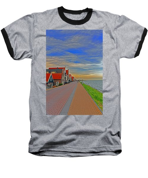 Sunset Over Volendam Baseball T-Shirt