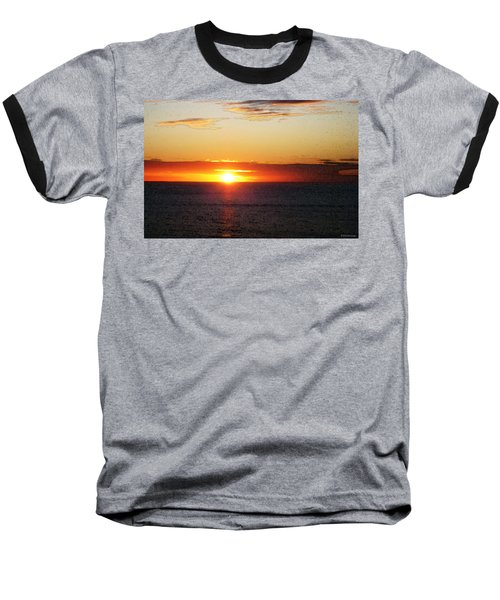 Sunset Painting - Orange Glow Baseball T-Shirt