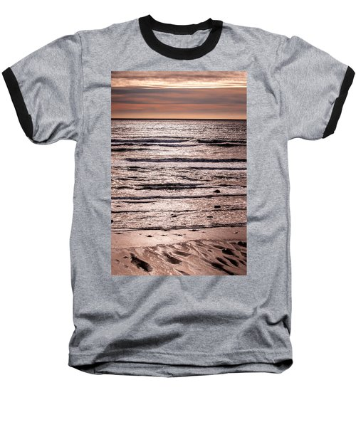 Sunset Ocean Baseball T-Shirt by Roxy Hurtubise