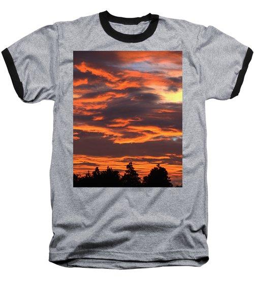 Sunset Baseball T-Shirt by Pamela Walton