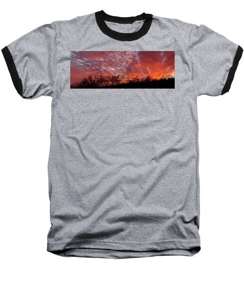 Sunset Panorama Baseball T-Shirt