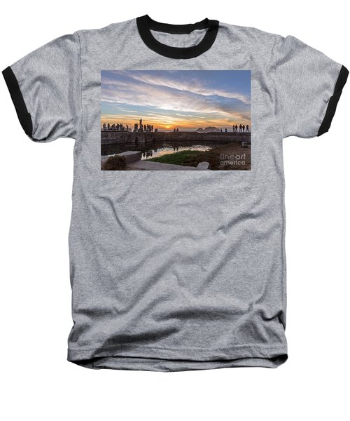 Sunset Party Baseball T-Shirt by Kate Brown