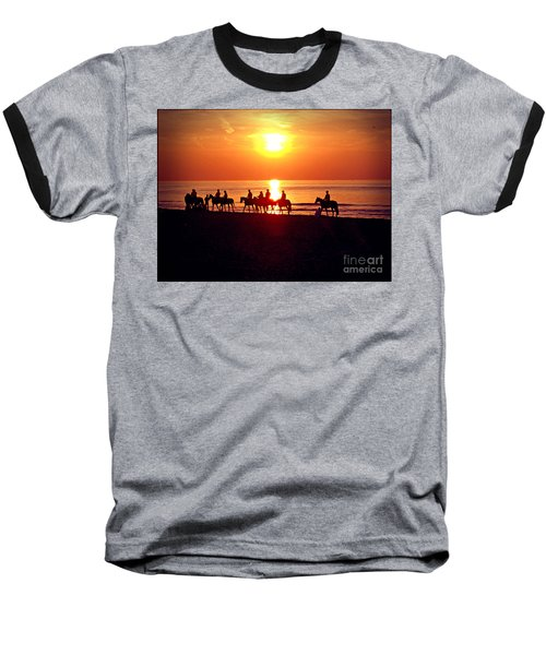 Sunset Past Time Baseball T-Shirt