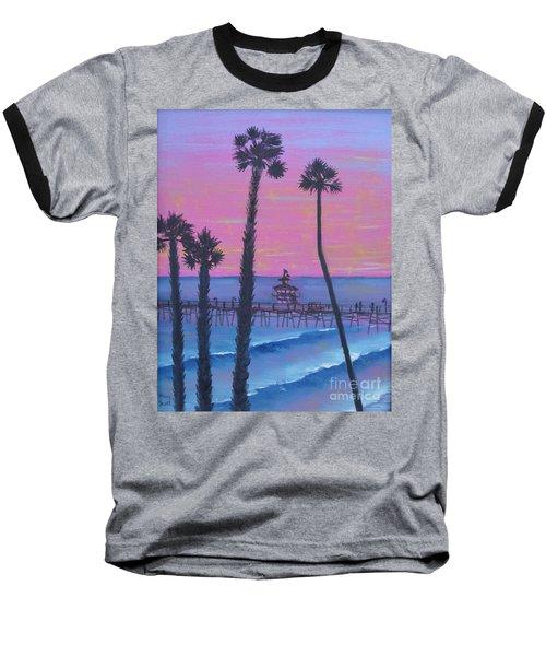 Sunset Pier Baseball T-Shirt