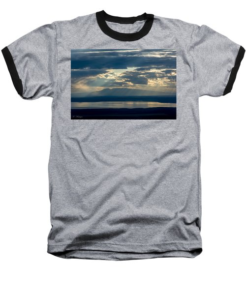Sunset Rays Over Mount Susitna Baseball T-Shirt