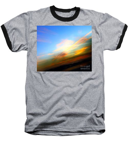 Sunset Reflections - Abstract Baseball T-Shirt