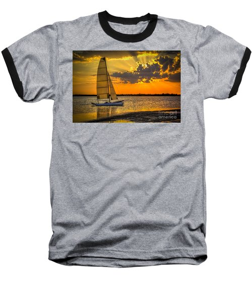 Sunset Sail Baseball T-Shirt